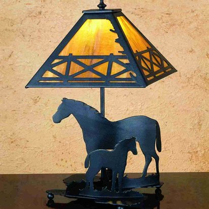 Mare and Foal Lamp