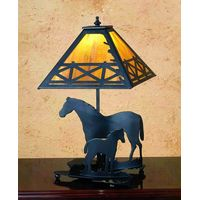 "20""H Mare & Foal Table Lamp"