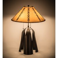 "23""H Sedona Faux Leather Table Lamp"