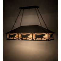 "50""L Steer Oblong Pendant"