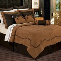 Barbwire Comforter Sets in Chocolate