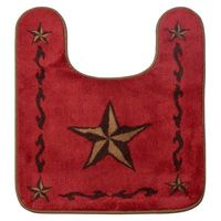 Star Bath Rug in Red
