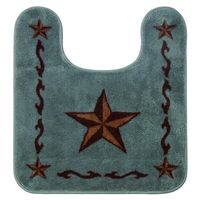 Star Bath Rug in Turquoise