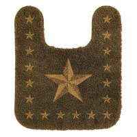 Star Bath Rug in Tan