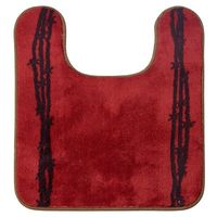Barbed Wire Bath Rug-Red
