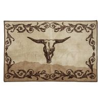 Longhorn Skull Bathroom Rug