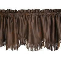 Chocolate Faux Leather Valance