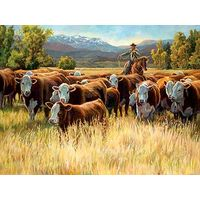 Autumn Roundup - Cowboy Art Prints