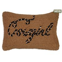 Cowgirl Hooked Wool Pillow