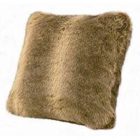 Faux Fur Wolf Pillow