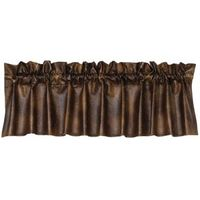 Faux Leather Valance-Chocolate