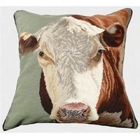 "Hereford Needlepoint Pillow 20"" x 20"""