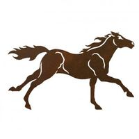 Horse Two Metal Wall Art
