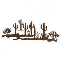Cactus Desert Scene Metal Wall Art