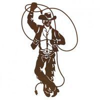 Roping Cowboy Metal Wall Art