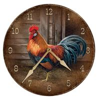 Leghorn - Rooster Nature Round Clock
