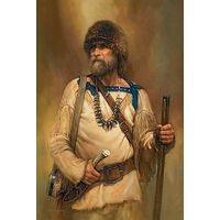 A Noble Time - Mountain Man Portrait Art Prints