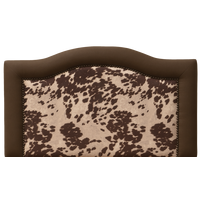 Ridge Headboard in Brown Cream Faux Hair on Hide