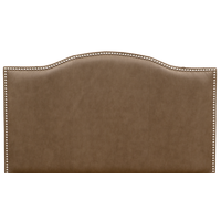 Serenity Headboard in Silt Faux Leather