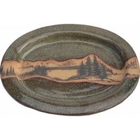 Mountain Scene Large Oval Platter