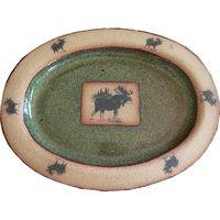 Moose 3 Small Oval Platter