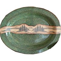 Mountain Scene Small Oval Platter
