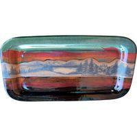 Mountain Scene Rectangular Platter