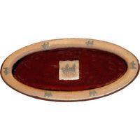 Double Running Horse Slim Oval Platter