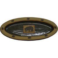 Fishing Bear Slim Oval Platter