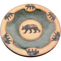 Mountain Scene Bear Small Round Platter