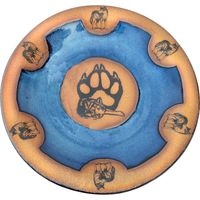 Wolf Paw Small Round Platter