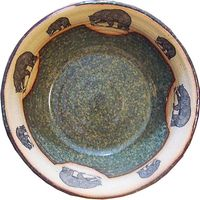 Medium Fishing Bear Serving Bowl