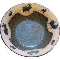 Medium Moose 3 Serving Bowl