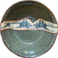 Extra Large Mountain Scene Serving Bowl
