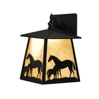 "7.5""W Mare & Foal Hanging Wall Sconce"