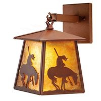 """7.5""""W Trail's End Hanging Wall Sconce"""