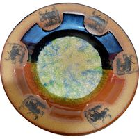 Moose #1 Fused Glass Small Round Platter