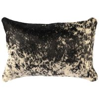 Black and White Speckled Hair on Hide Pillow