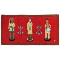Cigar Store Indians 2' x 4' Hooked Wool Rug