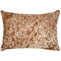 Dark Brown Speckled Hair on Hide Accent Pillow