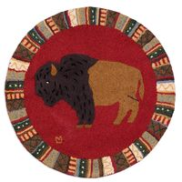 "For the Wild at Heart Round 36"" Hooked Rug"