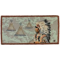 Honor the Chief Hooked Wool Rug