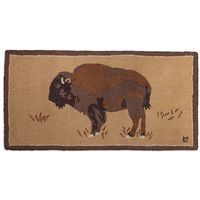 Majestic Buffalo Hooked Rug