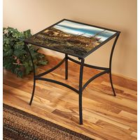 Sharing the Bounty Glass-Top Accent Table