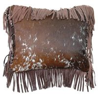 Speckled Hair on HIde with Leather Fringe