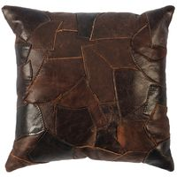 Patchwork Pillow with Medium tone Browns