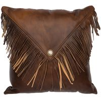 Harness Leather Pillow with Flap