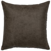 Saloon Grey Leather Pillow