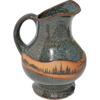Mountain Scene Squat Pitcher
