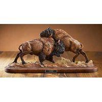 Test of Strength - Bison Sculpture